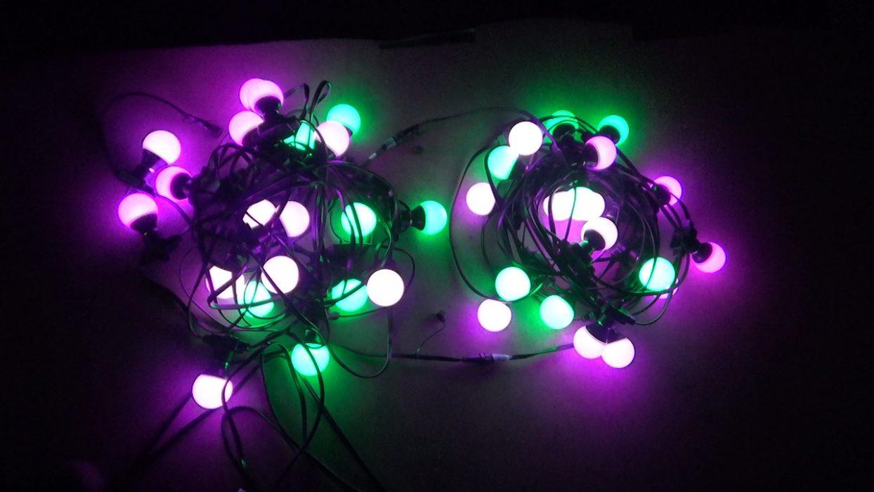 Lichtslinger huren met alle kleuren en licht-effecten
